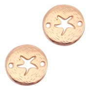 Round DQ metal connector seastar Rose gold (nickel free)