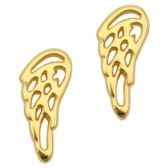 DQ metal charm / connector angel wing Gold (nickel free)