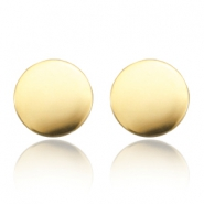 Stud earrings stainless steel cricle Gold