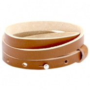 8mm Triple leather Cuoio bracelets for 12mm cabochon Hazel brown
