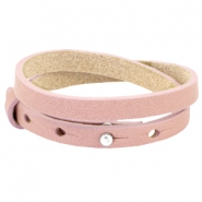 8mm Double leather Cuoio bracelets for 12mm cabochon Mesa rose
