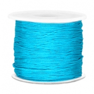 Macramé bead cord 0.7mm Aqua blue