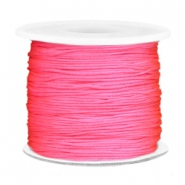 Macramé bead cord 0.7mm Bright pink