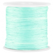 Macramé satin bead cord 0.8mm Light Crysolite Green