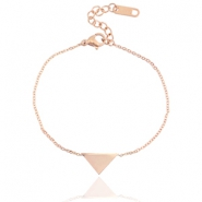 Stainless steel bracelet triangle Rose gold