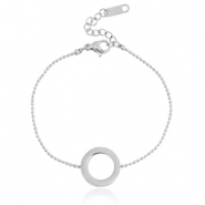 Stainless steel bracelet circle Silver
