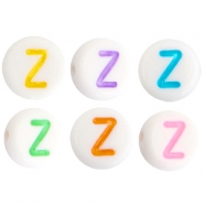 Acrylic letterbeads letter Z Multicolor-White
