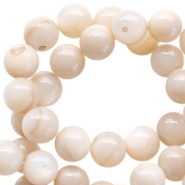 Basic round 3mm shell beads Beige