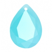 Drop shaped SQ faceted charms 13x18mm Blue turquoise opal
