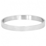 Stainless steel bracelet large Silver