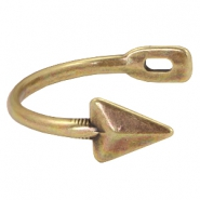DQ metal findings half arrow bracelet Antique bronze (nickel free)
