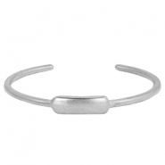 DQ metal findings bangle Antique silver (nickel free)