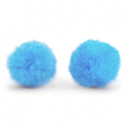 Pompom charm 8mm Light blue