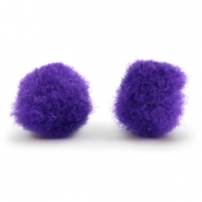 Pompom charm 15mm Purple