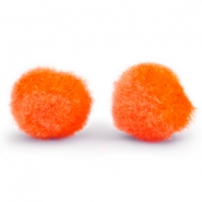 Pompom charm 8mm Spicy orange