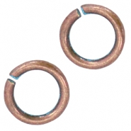 DQ findings 6,5mm jumpring Copper blue platinum (nickel free)