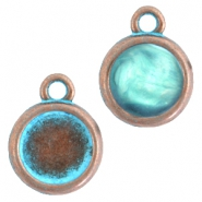 DQ setting with 1 loop for 12mm cabochon Copper blue platinum (nickel free)