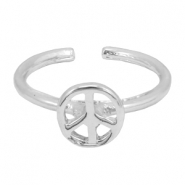 Musthave peace ring Silver