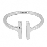 Musthave double bar ring Silver
