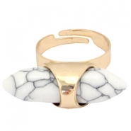 Musthave howliet stone look ring Gold