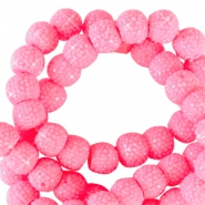 6 mm sparkling beads Tropical pink