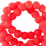 8 mm sparkling beads Candy red