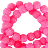 8 mm sparkling beads Neon pink