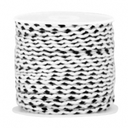 Trendy weaved cord Black white