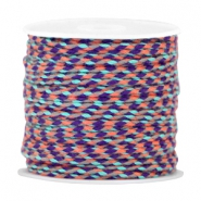 Trendy weaved cord Puple-orange-light blue