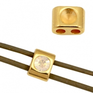 DQ metal sliders/settings for SS24 (for 3mm string/leather) Gold (nickel free)