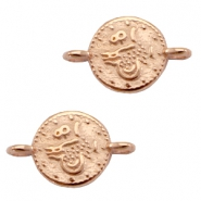 connector coin DQ metal charms Rose gold (nickel free)