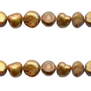 9-10mm Nugget freshwater pearls Gold bronze