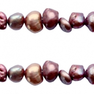 4-5mm Nugget freshwater pearls Red brown