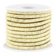 Trendy metallic string White gold