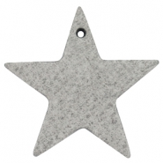 DQ star leather charms  Graphite grey