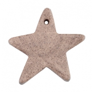 DQ star leather charms  Chocolate brown