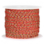 Trendy round surfcord 1.2mm Red white black