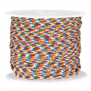 Trendy round surfcord 2mm Blue yellow red