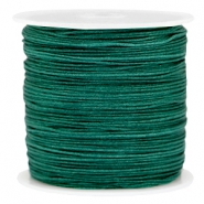 Macramé bead cord 0.8mm Dark emerald green
