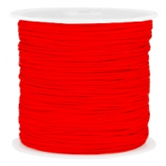 Macramé bead cord 0.8mm Fiery red