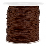 Macramé bead cord 1.0mm Dark brown