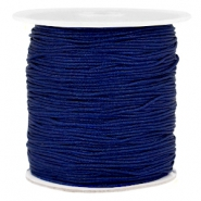 Macramé bead cord 1.0mm Dark blue
