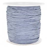 Macramé bead cord 1.0mm grey