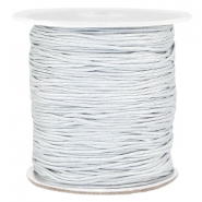 Macramé bead cord 1.0mm Silver grey