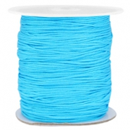 Macramé bead cord 1.0mm Cyan blue