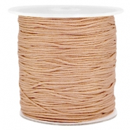 Macramé bead cord 1.0mm Light brown