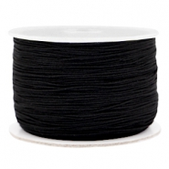 Macramé bead cord 0.5mm Black