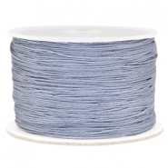 Macramé bead cord 0.5mm Grey