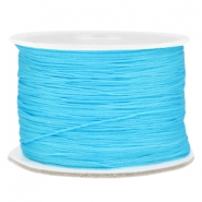 Macramé bead cord 0.5mm Cyan blue