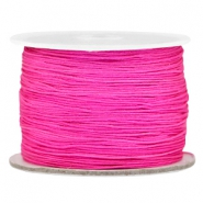 Macramé bead cord 0.5mm Hot pink